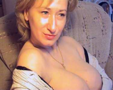 Blonde milf with big breasts